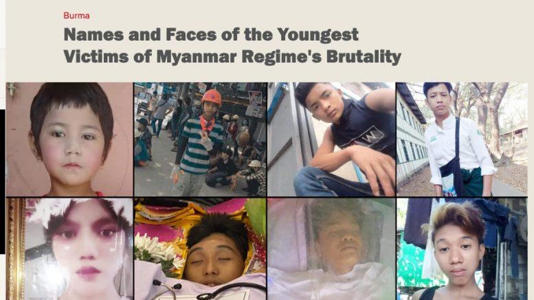 Irrawaddy: young victims. 26.3.2021. Screenshot.