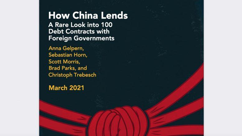 How China Lends. AIDDATA screenshot of study. 1 April 2021.