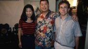 Mit Jimmy Lai und Ehefrau. Foto: Adrian Bradshaw.
