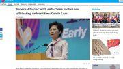Carrie Lam köchelt jetzt mit der Marxismus-Leninismus-Suppe: Apple Dail.8.6.21. Screenshot.