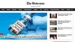 The Statesman. 14. Juni 2021. Screenshot.