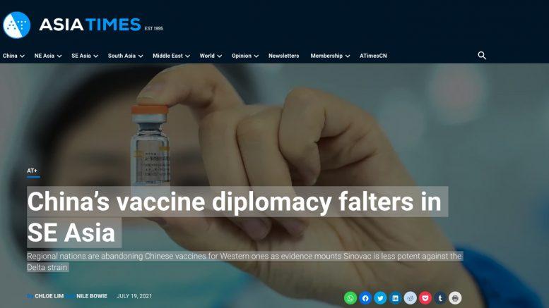Asia Times.20. Juli 2021. Screenshot.